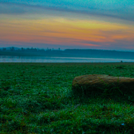 Serene by Syed Waseem - Landscapes Travel ( water, grassland, grass, lake, sunrise, coorg )