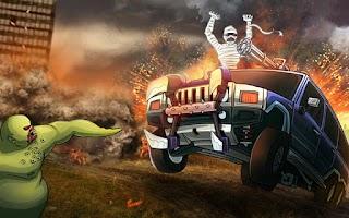 Screenshot of Monster Car Hill Racer