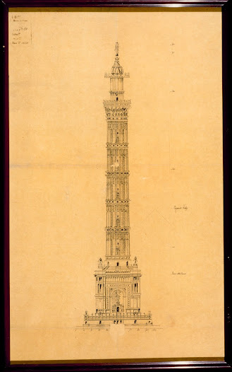 A serious component was the project of Jules Bourdais, he was the architect of Palais du Trocadéro.
