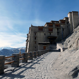 Leh Palace by Advaitaa Biswas - Buildings & Architecture Public & Historical ( peaceful, winter, beautiful, snowy, historical )