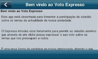 Screenshot of votoExpresso