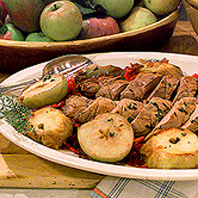 Pork Tenderloin and Apples