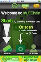Screenshot of MyEchain Free Loyalty Card App