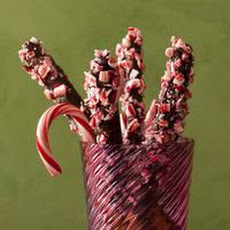 Chocolate-Peppermint Pretzel Rods