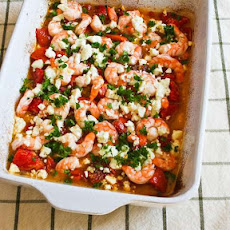 Easy Roasted Tomatoes and Shrimp with Feta, Oregano, and Fennel
