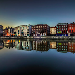 River Liffey by Alnor Prieto - Landscapes Waterscapes