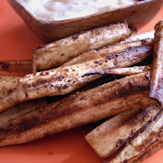 Parsnip Pencil Fries With Spicy Curry Dipping Sauce