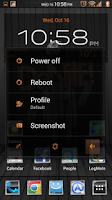 Screenshot of Black Wood Orange CM11 Theme