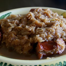 Crock Pot Smoked Sausage and Sauerkraut