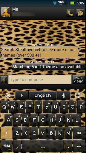 GO Keyboard Cheetah Theme