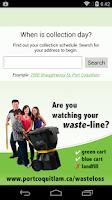 Screenshot of PoCo Waste-Line