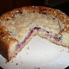 Raspberry Double Cream Coffee Cake