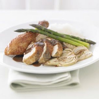 Roasted Chicken with Wild Mushroom Sauce