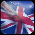 3D UK Flag + icon