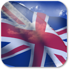 3D UK Flag + icon