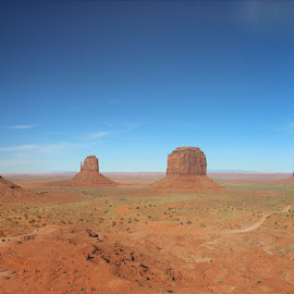 Monument valley by Lisa Fitzthum - Landscapes Deserts ( monument valley, mountains, sky, desert, red rock )