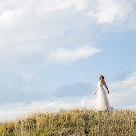 Basking in the Glow by Brooke Green - Wedding Bride ( wedding, bridal portraits, outdoor, bride )