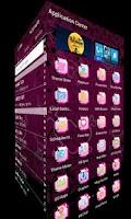 Screenshot of Cute Pink Cheetah Theme Go SMS