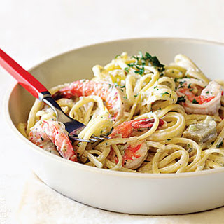 Shrimp and Artichoke Linguine Alfredo