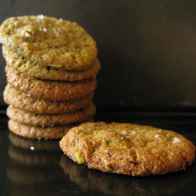 Salty-Sweet Pistachio Nut Butter and Oatmeal Cookies