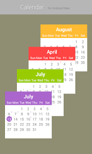 Calendar for Android Wear Screenshot