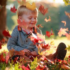 Playing in the leaves by Jill Grove - Babies & Children Children Candids (  )