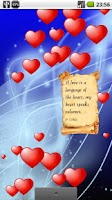 Screenshot of Be My Valentine LiveWallpaperL