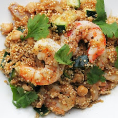 Harissa Quinoa with Shrimp and Chickpeas