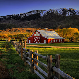Wallsburg Sunset by Ryan Smith - Buildings & Architecture Other Exteriors ( heber valley, farm, utah, wallsburg, sunset )