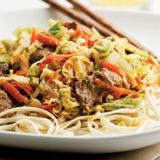 Beef & Cabbage Stir-Fry with Peanut Sauce