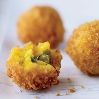 Toasted Pistachio-Cheese Arancini