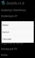 Screenshot of Dicionário DicInfo