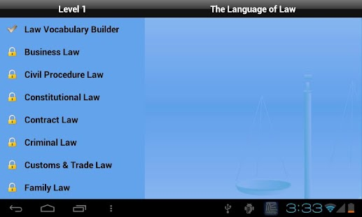 The Language of Law for Tablet - screenshot