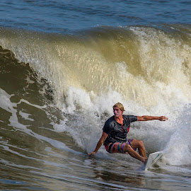 Surfing by Adrian Dillenseger - Sports & Fitness Surfing ( surfing, beach, outerbanks, surf )