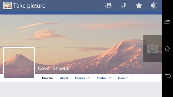 Screenshots  Facebook Timeline Cover Camera