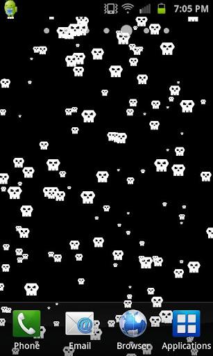 Retro Skull Live Wallpaper