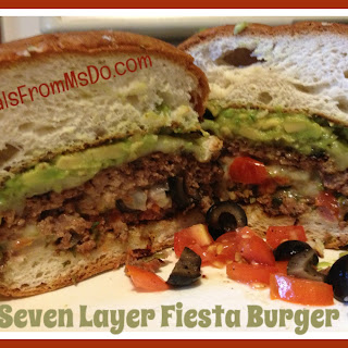 Seven Layer Fiesta Burger