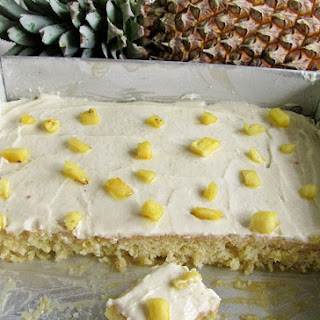 Pineapple Sheet Cake Recipe With Pineapple Buttercream (No Oil Or Butter)