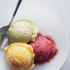 Sour-Cherry and Lemon-Verbena Sherbet
