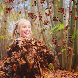 Throwing back by Jeanette Birkholm - Babies & Children Children Candids