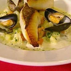 John Dory with lightly spiced mussels