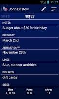 Screenshot of Gift Shopper Pro