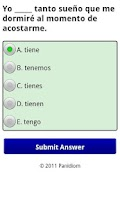 Screenshot of Spanish Tester Lite
