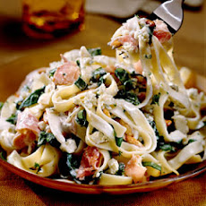 Fettuccine with Blue Cheese Sauce