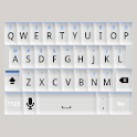 White and Blue Keyboard Skin icon