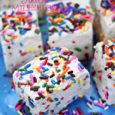 Homemade Funfetti Marshmallows