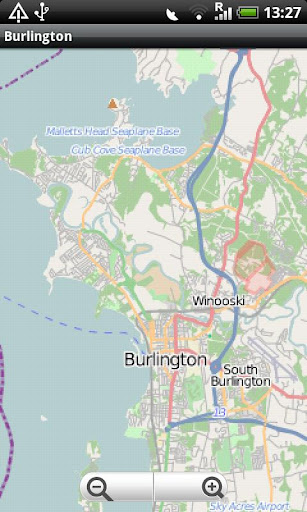 Burlington Street Map