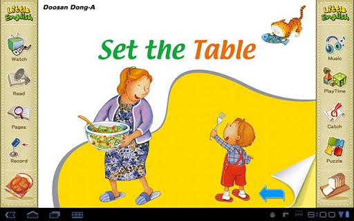 리틀잉글리시-Set the Table 4세용