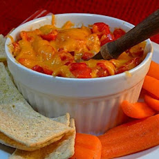 Hummus Bake With Red Bell Pepper and Cheese