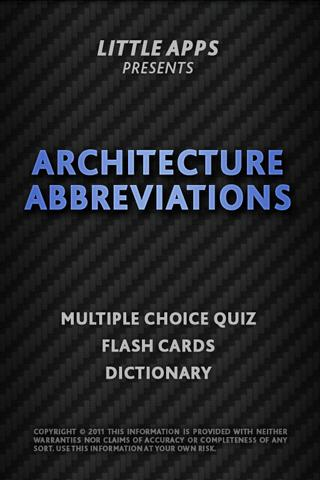 ARCHITECTURE ABBREVIATIONS